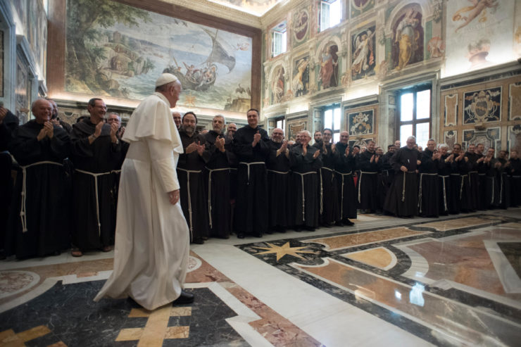 Visite au Pape: sans miséricorde, il n'y a ni « fraternité » ni « minorité ».